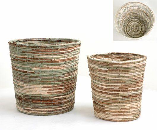 観葉植物用資材 通販 籐製鉢カバー (ミックス) 10号鉢用 KB035001
