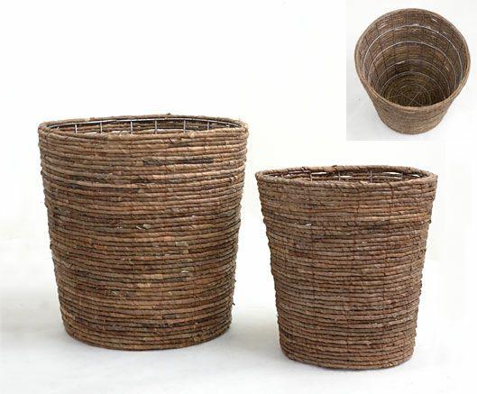 観葉植物用資材 通販 籐製鉢カバー (ブラウン) 10号鉢用 KB035002