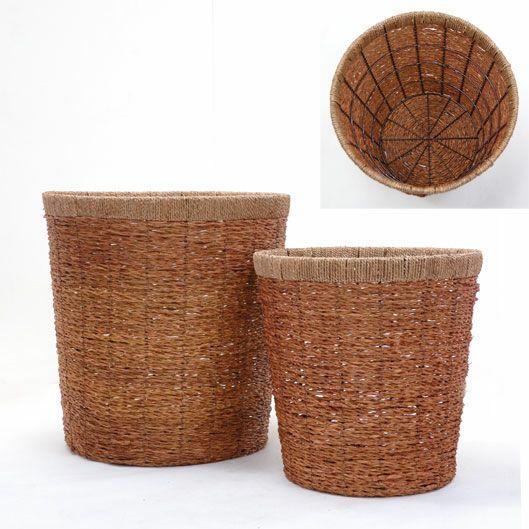 観葉植物用資材 通販 籐製鉢カバー (ライトブラウン) 8号鉢用 KB032003