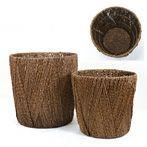 籐製鉢カバー (ディープブラウン) 8号鉢用 KB032004