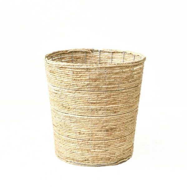 観葉植物用資材 通販 バナナリーフ 天然素材 バスケット 鉢カバー(ホワイト)10号鉢用KB035004